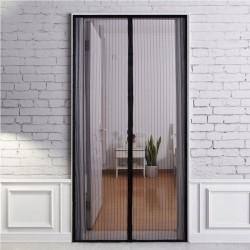 Plasa anti-insecte, pentru usa, 100x220 cm, inchidere magnetica, negru