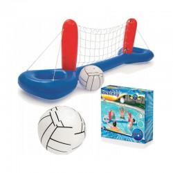 Set volei pentru piscina, fileu si minge gonflabile, 244x64 cm, material vinil