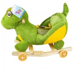 Balansoar bebelusi, model Dinozaur, centura de siguranta, roti, melodii