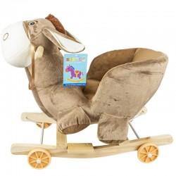 Balansoar bebelusi, Magarus cu roti, centura siguranta, lemn si plus