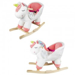 Balansoar Unicorn, 1-3 ani, melodii, centura de siguranta