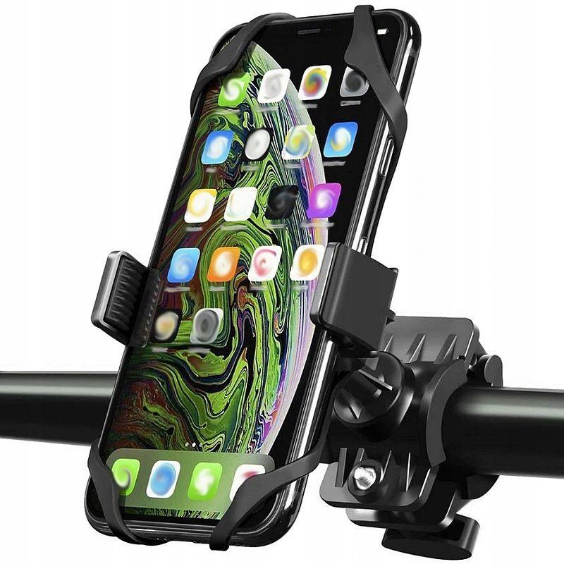 Suport telefon pentru bicicleta sau motocicleta, universal, amortizare soc, reglare 360 grade