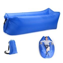 Canapea gonflabila portabila, 220x70x70 cm, rucsac transport, poliester