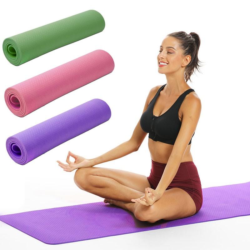 Saltea yoga 183x61x0.6 cm, pentru pilates, fitness, antiderapanta, impermeabila