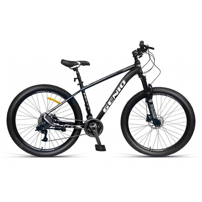 Bicicleta Mountain Bike 27.5 inch, aluminiu, frane hidraulice, 27 viteze, negru, Genio