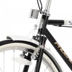 Bicicleta de oras, 26 inch, cadru otel, portbagaj, aspect vintage, neagra, Phoenix