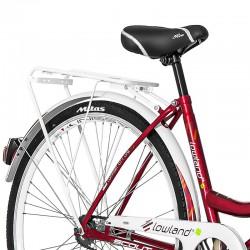 Bicicleta dama, 28 inch, cadru otel, V-Brake, jante aluminiu, cos cumparaturi, portbagaj
