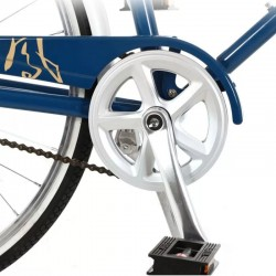 Bicicleta de oras 26 inch, cadru otel, portbagaj, jante aluminiu, cric, vintage, albastru