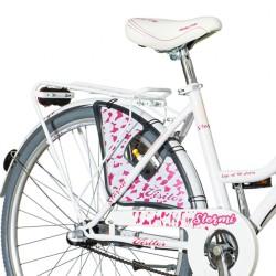 Bicicleta dama, 26 inch, cadru otel, 3 viteze Shimano, portbagaj, cos cumparaturi, V-brake, Visitor Stormi