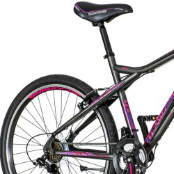 Bicicleta MTB 26 inch, 18 viteze Shimano, cadru otel, V-brake, jante aluminiu, Visitor Aurora