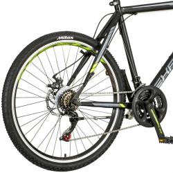 Bicicleta MTB 26 inch hardtail, cadru otel, 18 viteze Shimano, frane pe disc, Explorer Classic