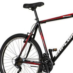 Bicicicleta MTB 26 inch, frane V-brake, 18 viteze Power, cadru otel, negru-rosu, Explorer Spark