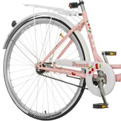 Bicicleta dama, 26 inch, cadru otel, cos cumparaturi, portbagaj, Venssini Diamante