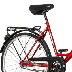 Bicicleta de oras, 26 inch, cadru otel, sistem franare V-brake, single speed, rosie, Scout Partizan