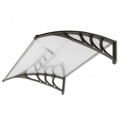 Copertina fixa pentru usa frontala, policarbonat transparent, 200x100 cm, accesorii montaj