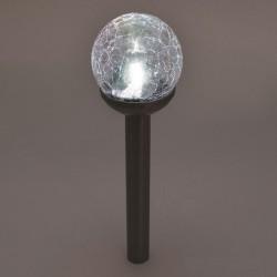 Glob solar LED, abajur din sticla, 56 cm, iluminare alb si multicolor