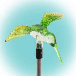 Decoratiune solara Pasare Colibri, LED, suport fixare pamant, inaltime 50 cm