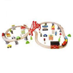 Trenulet lemn, cale ferata...