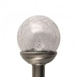 Lampa solara LED Glob cu efect plasma, 8 cm diametru