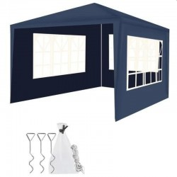 Cort de gradina, 3x3 m, 3 pereti, ferestre laterale, cadru otel, inaltime 2.5 m