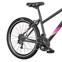 Bicicleta MTB 27.5 inch, cadru otel, 18 viteze Shimano, V-Brake, Explorer Classic, neagra