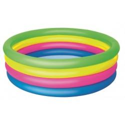 Piscina gonflabila pentru copii, 157x46 cm, multicolor, 4 inele
