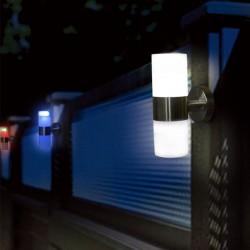 Aplica solara LED RGB, 2 moduri iluminare, fixare perete, inox, Flink