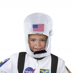 Casca astronaut pentru copii, steag SUA, circumferinta 58 cm