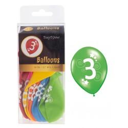 Set baloane colorate cifra...
