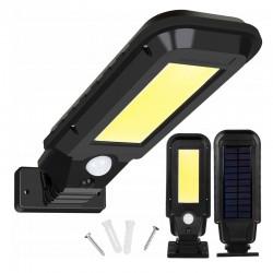 Lampa solara stradala, 100 LED-uri COB, senzor de miscare, lumina neutra, IP65