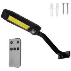 Lampa solara stradala, 180 LED-uri, 3 moduri de functionare, telecomanda inclusa