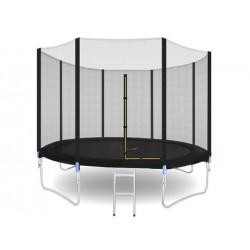 Trambulina diametru 305 cm, cadru otel, plasa de siguranta si scara inclusa