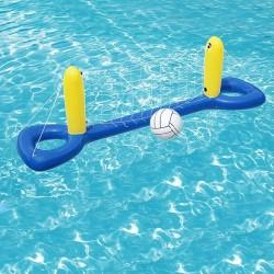 Fileu de volei pentru piscina, minge gonflabila inclusa, 244x64 cm