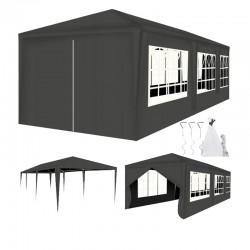 Cort pentru gradina sau curte, dimensiune 3x9 m, inaltime 2.5 m, 6 ferestre, 8 pereti detasabili, gri