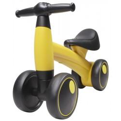 Bicicleta fara pedale, 4 roti, luminite LED si muzica, 1-3 ani