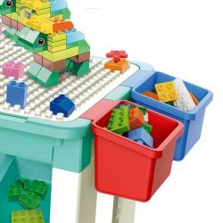 Masa cu blocuri de constructie, 69 piese, 4 cutii depozitare, joc educational