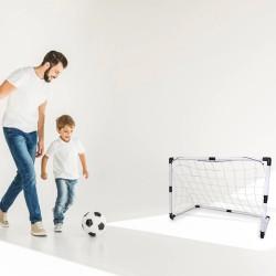 Set poarta cu plasa pentru fotbal, minge, pompa, 120x57x83 cm