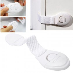 Sisteme de siguranta flexibile pentru usi si sertare, set 10 bucati, culoare alb