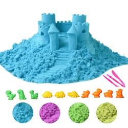 Nisip kinetic 500g, ecologic, maleabil, 10 forme incluse