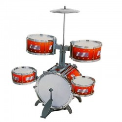 Set tobe copii Jazz&Drum, 5 tobe, bete, scaun