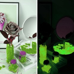 Pietricele fosforescente decorative glow verde deschis, decor exterior si interior