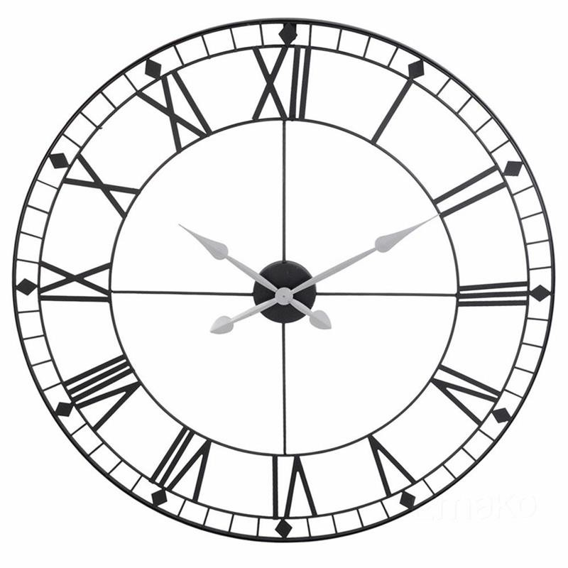Ceas de perete retro, diametru 88 cm, design minimalist, metal, stil industrial