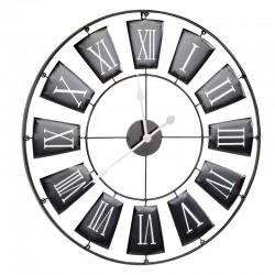 Ceas de perete diametru 70 cm, analog, din metal, afisaj cu cifre romane