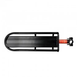 Portbagaj bicicleta, universal, aluminiu, prindere suport sa 25-34 mm, negru