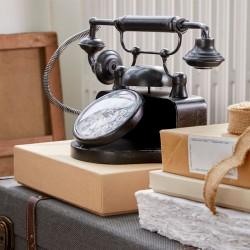 Ceas de masa metalic Telephone Retro, dimensiuni 33x17.5x21.5 cm