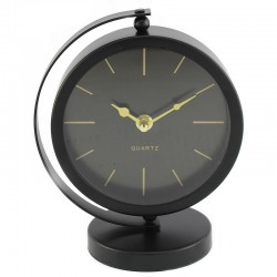 Ceas metalic de masa, meridian, suport stabil, dimensiune 16.5x10.5x20 cm