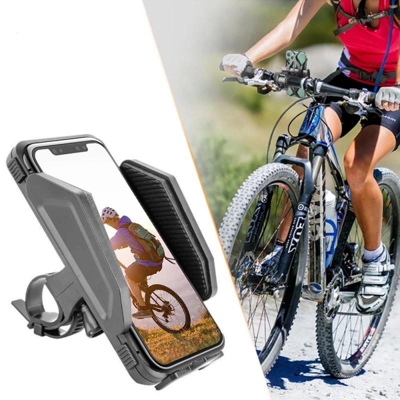 Suport telefon pentru bicicleta, reglabil latime 59-98 mm, fixare ghidon, negru