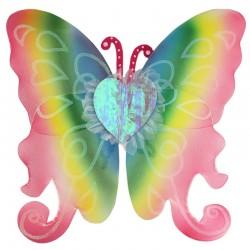 Aripioare fluturas pentru copii, costum party tematic, rainbow