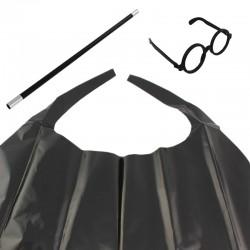 Costum magician, 3 piese, ochelari, bagheta, capa