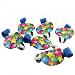 Set accesorii party, pentru 6 persoane, multicolor, 30 piese